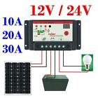 30A 20A 10A 12V-24V PWM solar panel regulator charge controller battery charger