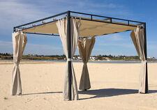 Flachdachpergola Firenze 3x3 Meter Sand NEU & OVP