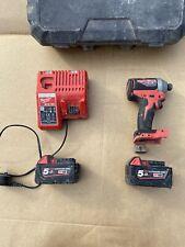 Milwaukee M18 18v M18CBLID Cordless Brushless Impact Driver + 2x M18 5ah Battery