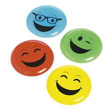 12 EMOJI smiley face emoticon flying disk frisbee birthday toys Party Favors