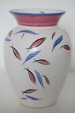 Studio Pottery Vase - Hand-Painted Fish Design - Margaret Forde - 1960's