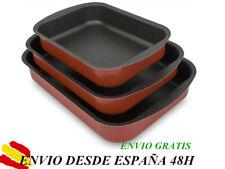 Rustidera Bandeja de Horno Aluminio Recubrimiento Antiadherente - 3pcs