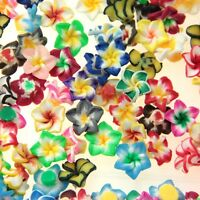 15mm 50/100 pcs Mixed Polymer Clay 5-leaves Fimo Flower Spacer Loose Beads