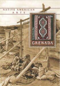 Grenada - 2010 - Native American Art - Souvenir Sheet - MNH