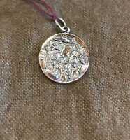 Retired James Avery  Retired Sterling Silver Pioneer Settler Pendant Silver