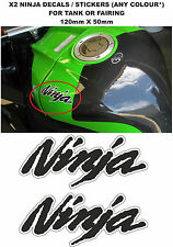 NINJA Tank Fairing Decals / Stickers (PAIR) (ANY COLOUR) (DESIGN #3)