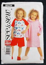 Butterick See & Sew 2008 Pattern #B5234 Child's Top Dress Shorts ( 2-3-4-5)