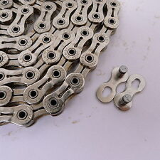 mr-ride YBN SLA 9 speed Hollow road/mtb Bike Chain 116 Link Silver - Sram FSA