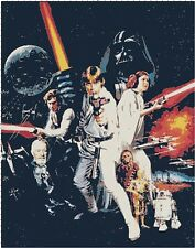Classic Star Wars Characters Movie Counted Cross-Stitch Pattern Chart
