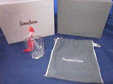 STEUBEN GLASS Christmas Ornament ANGEL 09157 Neiman Marcus Box ~ EXCELLENT