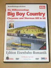 RARE DVD DOC TRAIN EN ALLEMAND / DIE MILLIONENANLAGE / BIG BOY COUNTRY / TBE