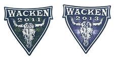Wacken Aufkleber  1x 2011 und 1x 2013 - unbenutzt - Zwei schöne Sammlerstücke