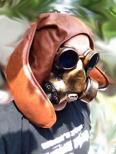 """The Apocalyptic brown Bunny ""gas mask LARP  burning Leather steampunk man"
