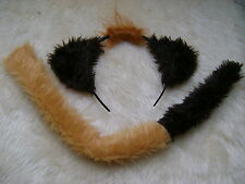 Disney The Lion King - Timon The Meerkat Ears & Tail Set Fur Fancy Dress NEW