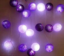 Purple Haze Jimmy Hendrix Cotton Ball Fairy Light String Decoration Ball Lights