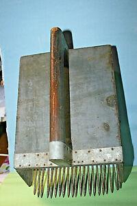 primitive wood blueberry picker tool