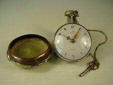 Antike Echt Silber Spindeltaschenuhr Norton London um 1780