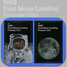 2019 FIRST MOON LANDING Set of individual USPS Forever® Stamps w/Bonus 5399-5400