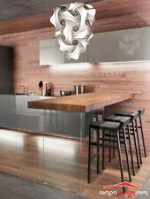 LAMPADARIO cucina design moderno a sospensione da soffitto bianco argento