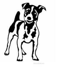 2 Aufkleber Jack Russel Hund Terrier Sticker Decal jdm tuning 15 cm black