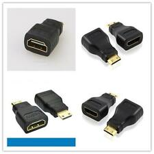 1X Mini USB HDMI Male to Female Converter Adapter Black Sale Universal Hotsale#Y