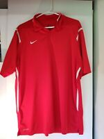 Nike Golf Standard Fit Polo Shirt Adult Dri Fit Rugby Mens Red XL Extra Large