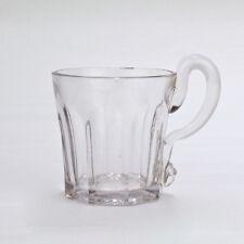 Antique 19C EAPG 8 Panel Flute Lemonade or Whiskey Glass Tumbler - GL Handle