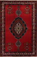 Vintage Medallion Bakhtiari Oriental Area Rug 4x7 Hand-Knotted Home Decor Carpet