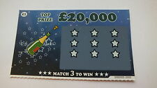 2 x JOKE / FAKE / PRANK / TRICK up to £20,000 Winning Scratchcards Scratch Cards