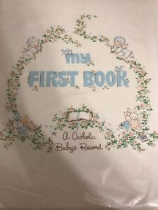 Catholic Baby Book Record of life First Communion milestones vtg 1970 sweet NEW