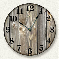 OLD WEATHERED BOARDS Wall Clock - Rustic Cabin Country Wall Home Decor - 7006_FT