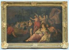 17th CENTURY Antique Old Master Religious Oil Painting The Baptism of Christ