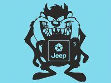 Taz Jeep With Logo Sticker Car Sticker Vinyl Sticker Window Side Bumper Car T15