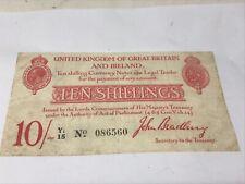 More details for great britain & ireland ten shillings treasury note secretary - john bradbury