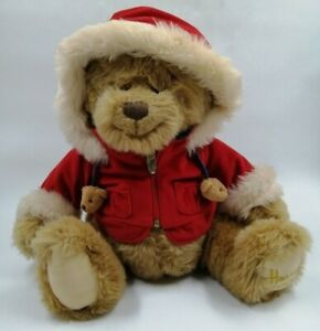 """14 yr old Harrods 2007 """"BENJAMIN"""" Foot Dated Bear IMMACULATE With Coat/Hood HB14"""