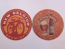 "Beer Pub Coaster ~ New Begium Brewing, Ft Collins, COLORADO ""A Feat of Balance"""