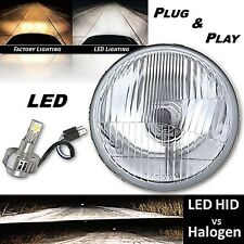 "5-3/4"" H5006 H5001 Stock H4 Glass / Metal Headlight 360° LED Bulb Headlight EACH"