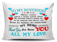 To My Boyfriend I Love You More Today Than I Have Ever Done Pillow Case