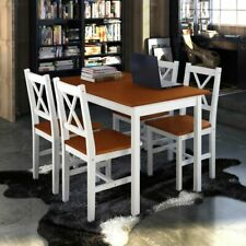 5 Piece Dining Table Set 1 Table and 4 Chairs Kitchen Dining Room Furniture