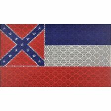 Reflective Mississippi State Flag - 2x3.5 Patch