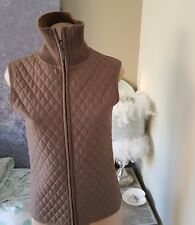 witchery size small jacket designer brown quilted gilet waistcoat padded