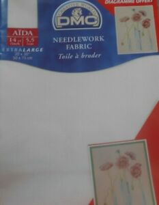 14 count DMC Antique White Aida Cross Stitch Fabric - Precut size 50x75cms