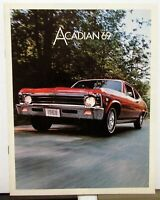1969 GM Of Canada Dealer Sales Brochure Acadian Super Sport 350 SS Rare