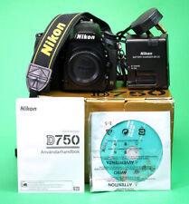 Nikon D750 Fotocamera DSLR, venduto con batteria, caricabatterie, manuale, software e scatola