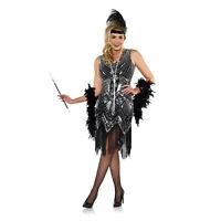 Adult Women's Roaring 20s Flapper Gatsby Beaded Halloween Costume Fringe Dress