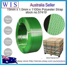 Strapping Polyester (PET) 19mm (W) x 1100m (L) GRN Embossed,1000Kg Load-57419