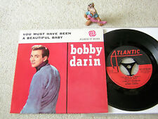 """BOBBY DARIN You Must Have Been A Beautiful.. 1961 SWEDISH 7""""EP w/PS ATLANTIC, NM"""