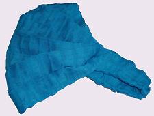 Guatemalan HEADBAND Hand Made Solid Blue Chalina Head Band Yoga Wrap NEW S008