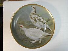 "Collector Plate 1978 GAME BIRDS OF THE WORLD Ptarmigan Basil Ede 9"" France"