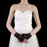Party Costume Wedding Lace Gloves Half Finger Fingerless Bridal Party Costume